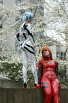 Rei and Asuka: Plugsuits