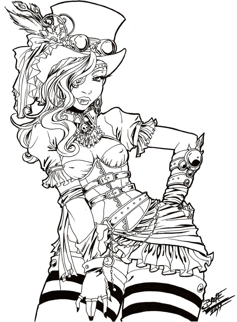 Line Art Book : Prize steampunk foal by tsuzukikun on deviantart