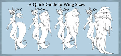 Kamitsune Wing Sizes by Tsuzukikun