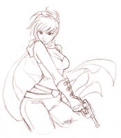 April Patreon Sketch Reward - Celine by Tsuzukikun