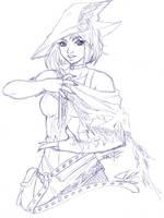 Oct Patreon Sketch Reward - Allira by Tsuzukikun