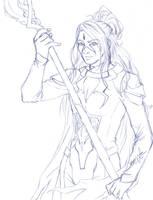 Nov Patreon Sketch Reward - Kayne by Tsuzukikun