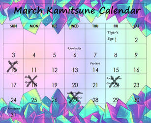 PRESALES CLOSED!! Kamitsune Mar Calendar by Tsuzukikun