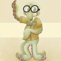 Child Squidward (Sponge on the Run)