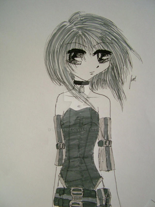 Short haired girl by teddy529