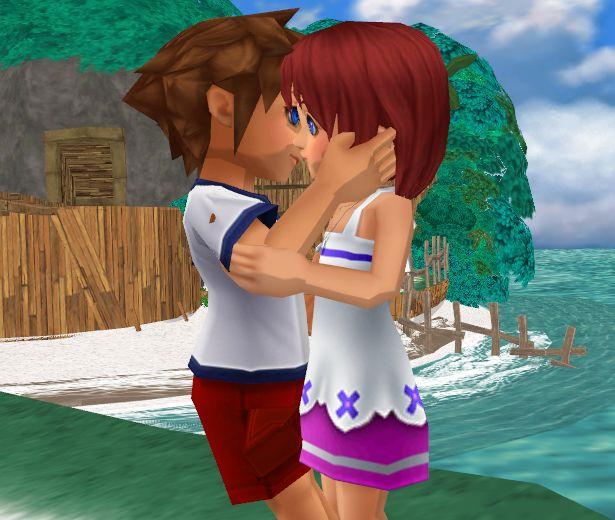 Kingdom Hearts Kairi And Sora Kissing