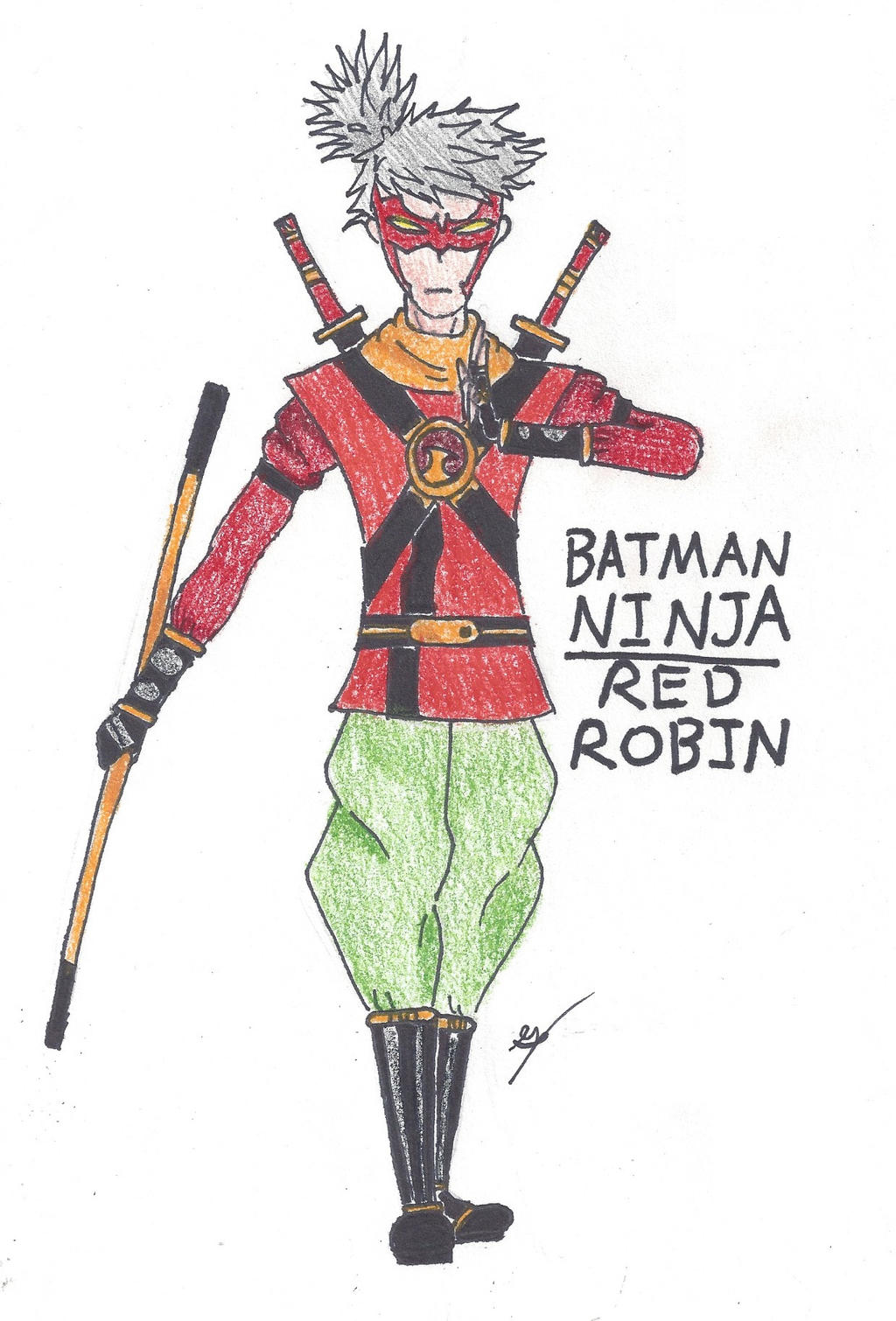 Batman Ninja Red Robin By Shadowredrobin123 On Deviantart