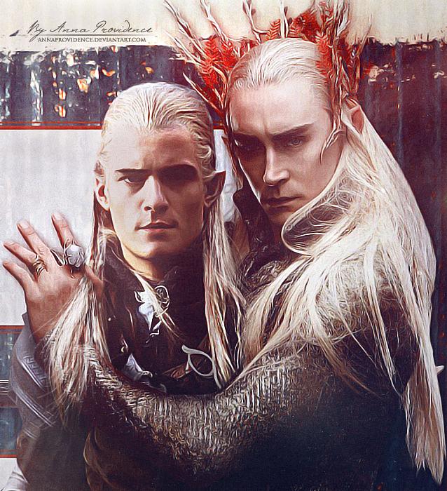 Legolas and Thranduil by AnnaProvidence on DeviantArt