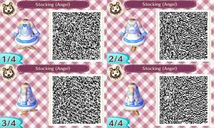 Stocking Angel - Animal Crossing NL - QR by KaitlechVonDraconius