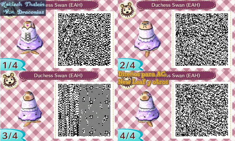 Duchess Swan - Ever After High - ACNL Code QR by KaitlechVonDraconius