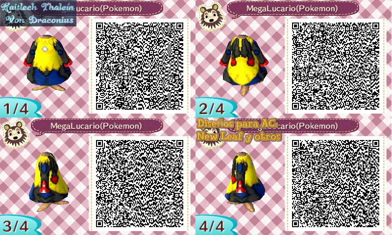 Mega Lucario Pokemon Xy Acnl Code Qr 449880169