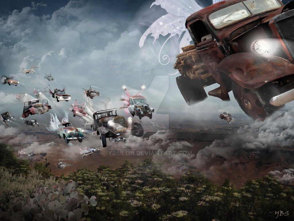 Flying Oldmobils by YBsilon