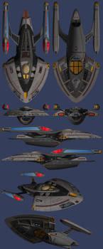 USS James Burke Orthographics