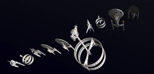 All of My Trek Ships by WideFoot