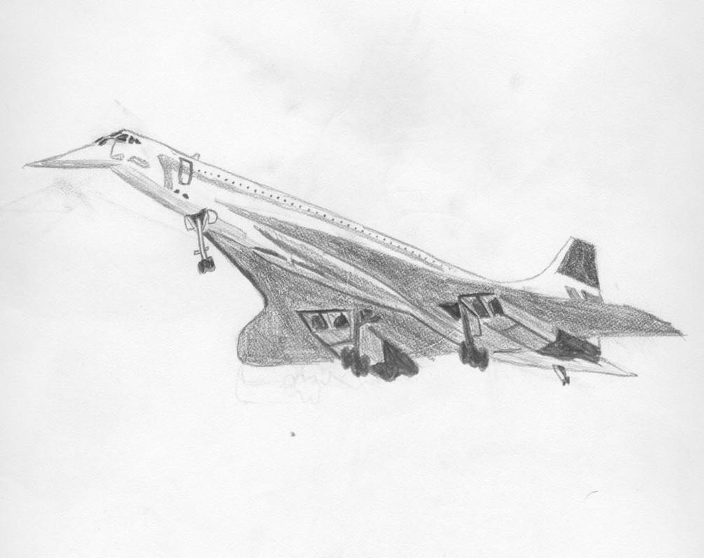 Concorde Drawing By Concaholic On Deviantart