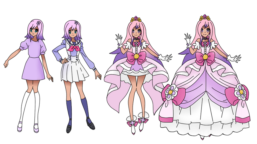 Gogo princess precure kaede cure flora by xmagical for Farcical other forms
