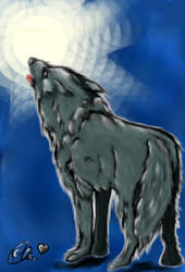 Howling_Wolf by 0Ebs0