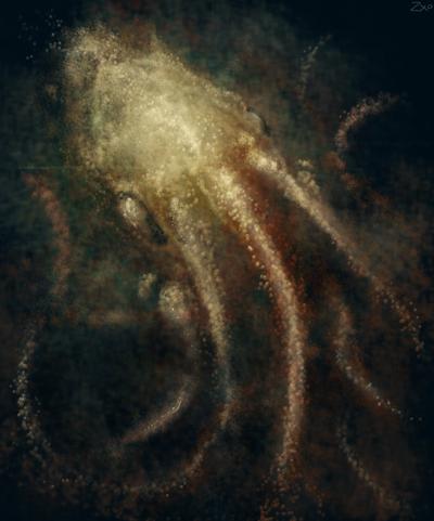 Cephalopod nebula by Zxoqwikl