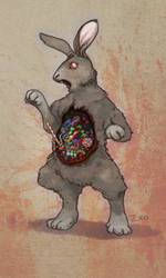 Easter Bunny Belly full of Bonbon by Zxoqwikl
