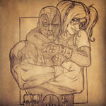 Sketch sessions: Deadpool and Harley Quinn