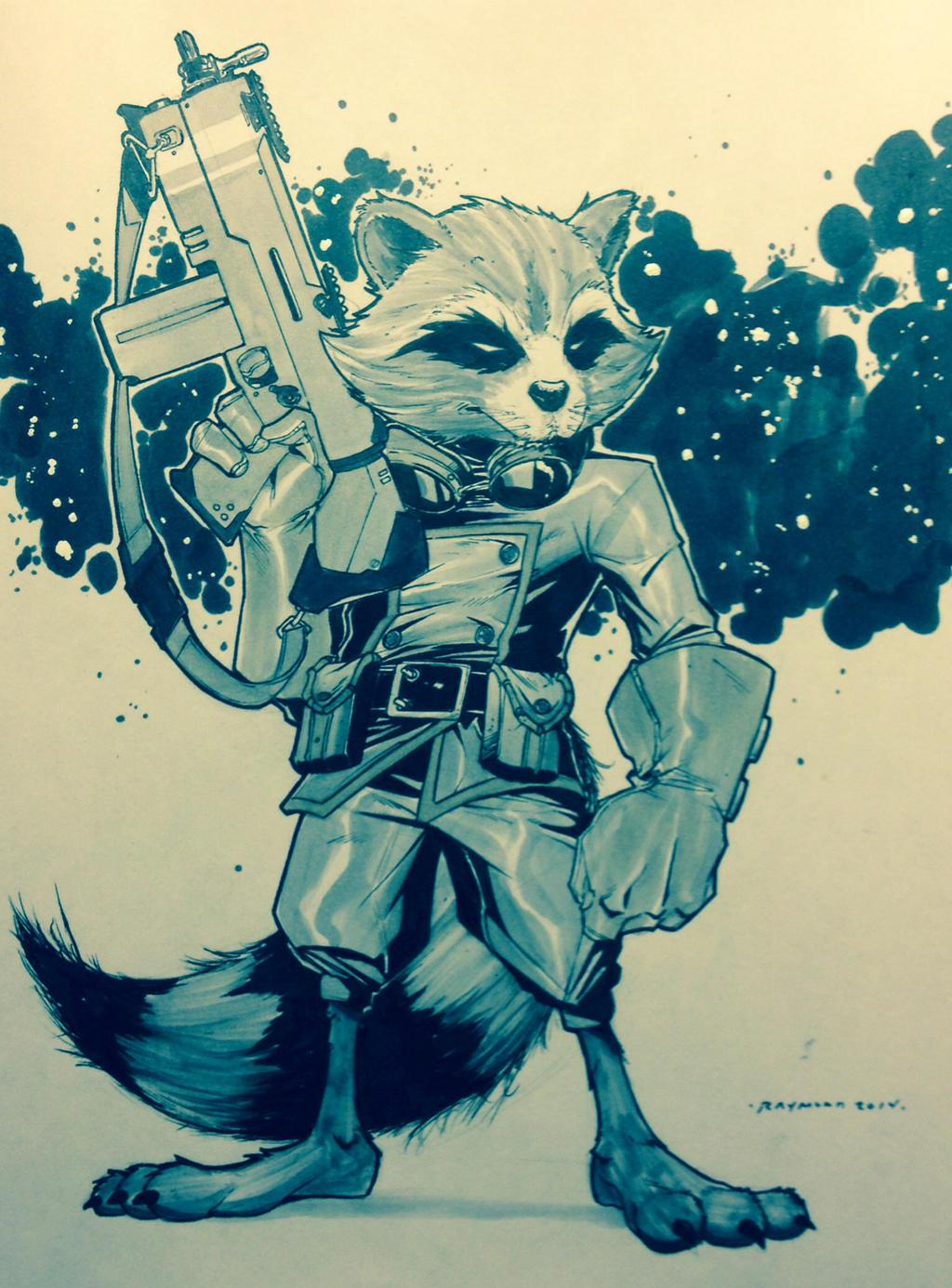Rocket Raccoon sketch by Gay-san