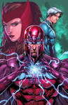 Magneto, Scarlett Witch and Quicksilver