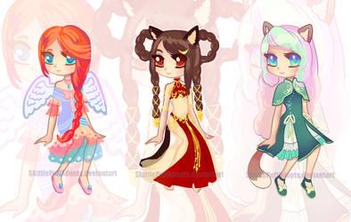 Cute Girls (Adopts) OPEN by SkittlePuffAdopts