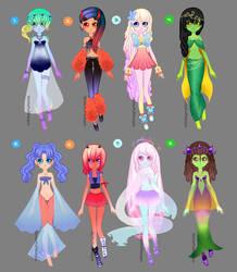 Elemental Girls Adopts (OPEN) by SkittlePuffAdopts