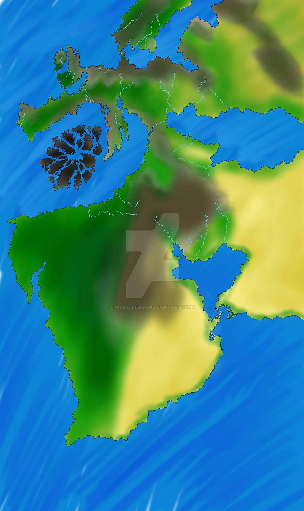 Arcanum Flux - World Map by AnimeFreak40K