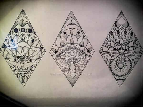 3d triangle geometric pattern