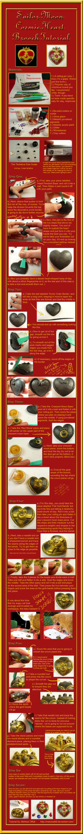 Sailor Moon Cosmic Heart Brooch Tutorial by Melyssah6