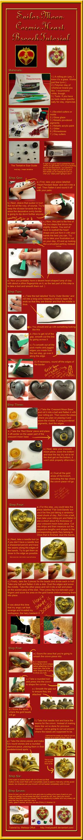 Sailor Moon Cosmic Heart Brooch Tutorial by Melyssah6