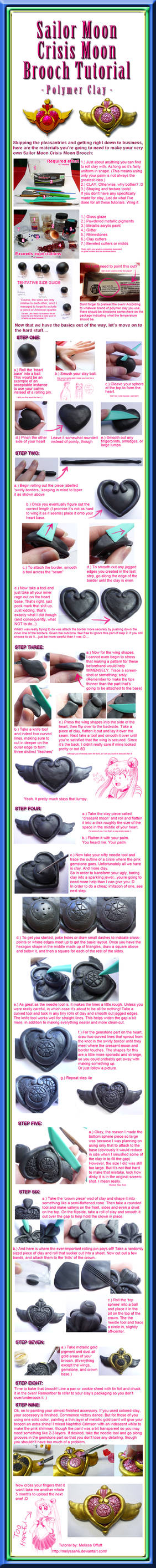 Sailor Moon Crisis Moon Brooch Tutorial