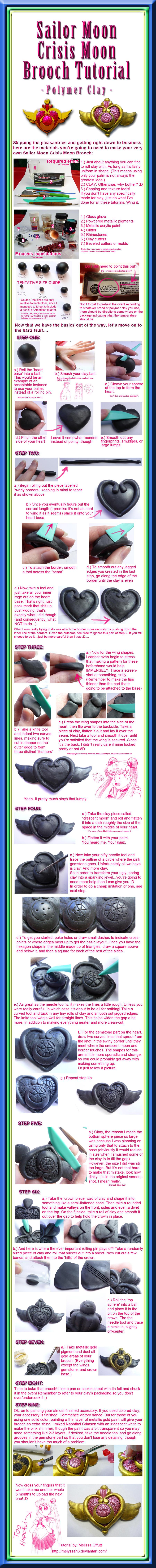 Sailor Moon Crisis Moon Brooch Tutorial by Melyssah6