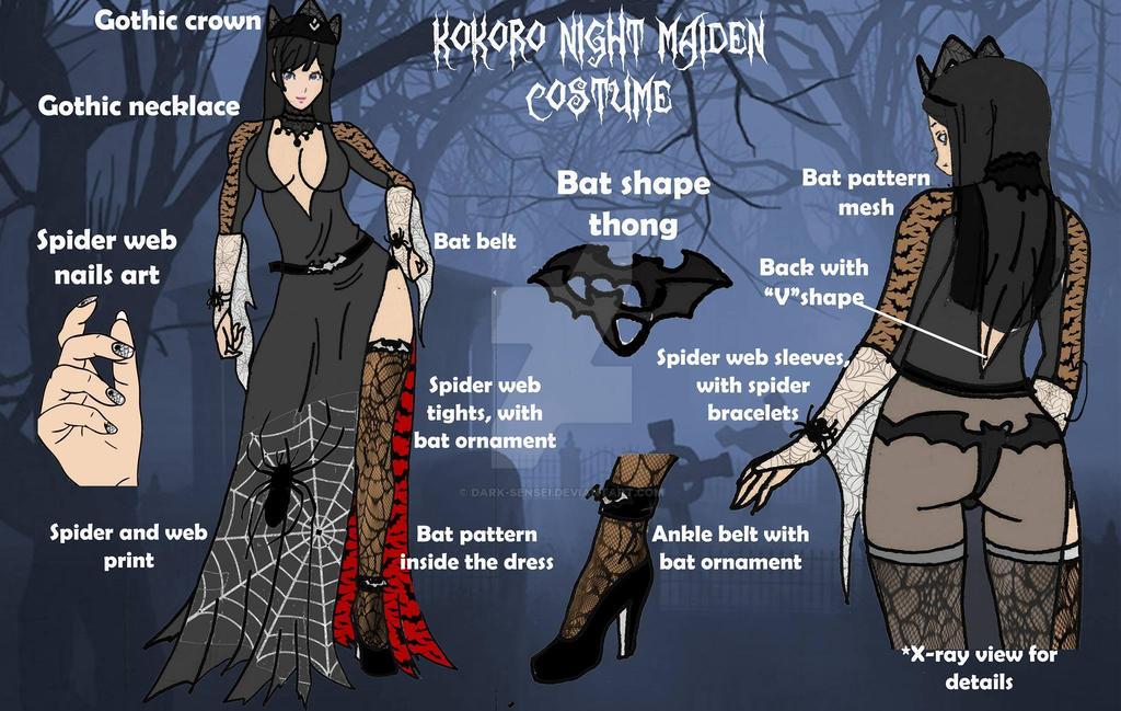 Kokoro's Halloween 2014 outfit (WINNER FOR HELENA) by Dark-sensei