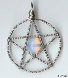Moonstone Pentacle by ArtByLThompson