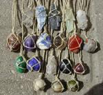 Hemp Wrapped Healing Crystal Gemstone Necklace