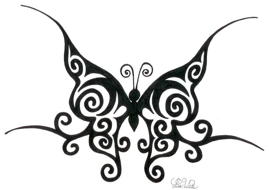 tribal butterfly drawings - 912×644