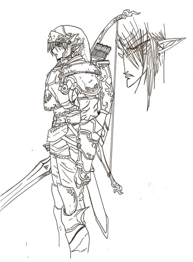 Zelda twilight princess coloring pages - Link Twilight Princess Coloring Pages Princess Coloring Pages Post