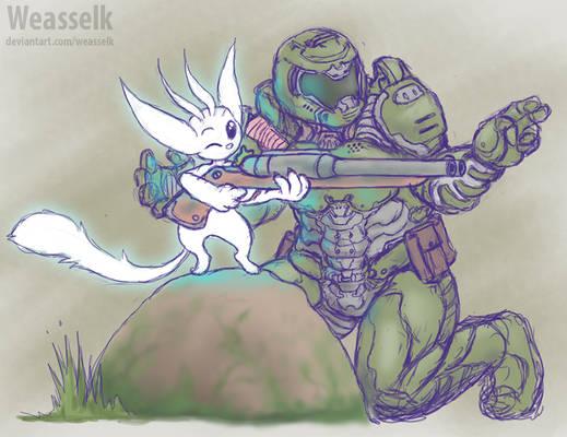 Doomslayer teaches Ori