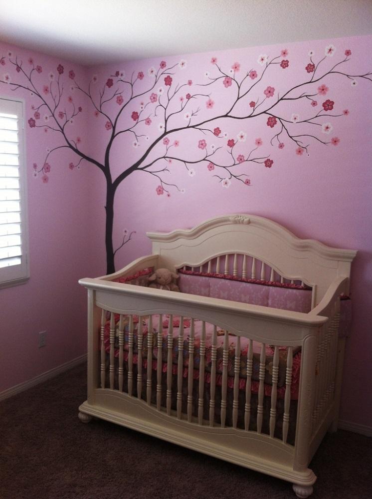 Cherry blossom tree mural by sarah dworak on deviantart for Cherry blossom mural