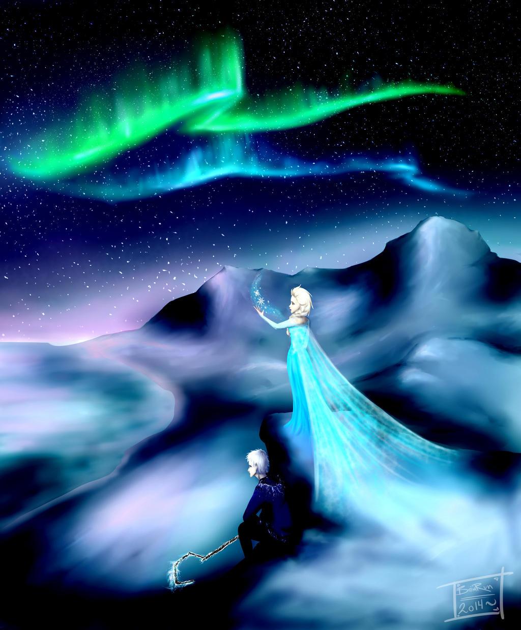 Night light x jack frost -  Frozen The Northern Lights By Brimrun