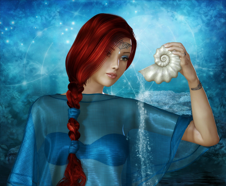 Рыжая косичка девка 19 фотография
