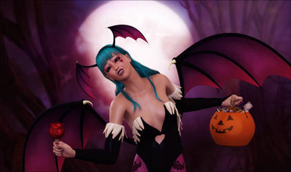 Trick 'n' Treat with Morrigan by Frollein-Zombie