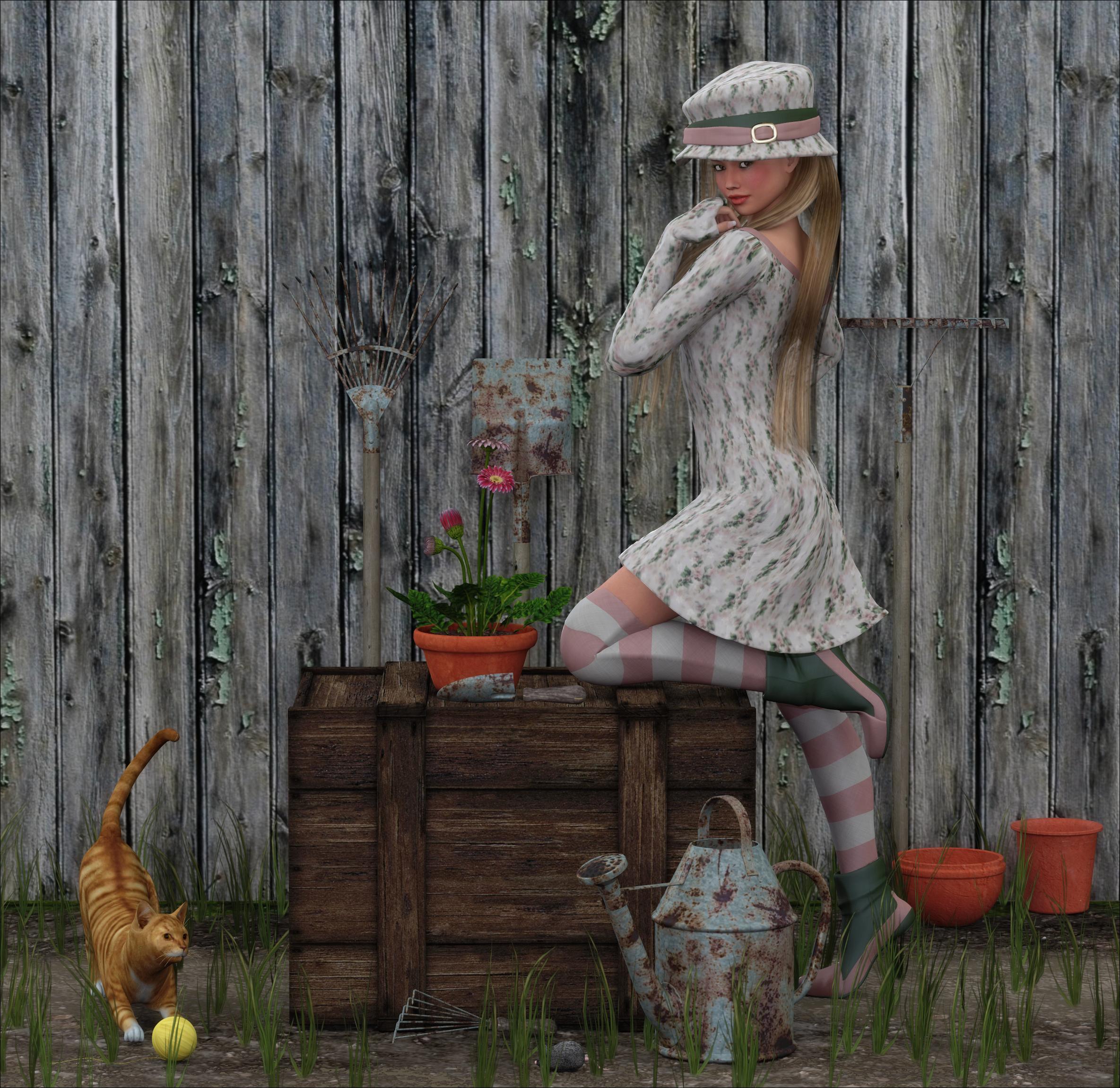 garden shabby chic by frollein zombie on deviantart. Black Bedroom Furniture Sets. Home Design Ideas