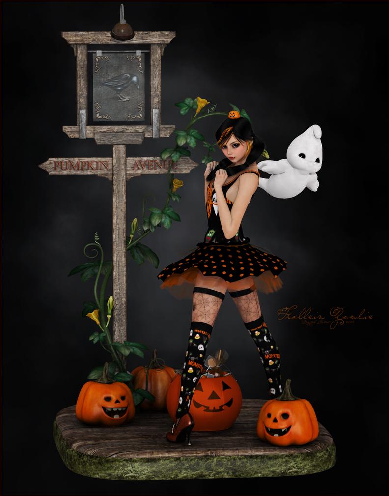 Halloween Sweetheart by Frollein-Zombie