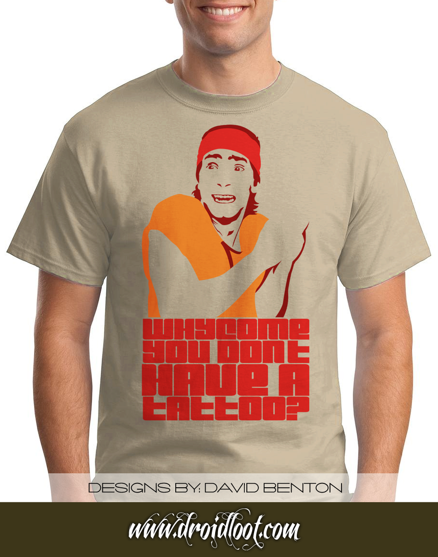 Idiocracy tee whycome no tattoo by designbomb on deviantart for Donald trump tattoo shirt