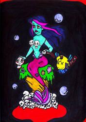 The Little Zombie Mermaid by jengolem