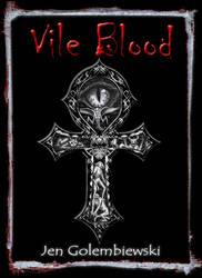 Vile Blood Print Book Cover by jengolem