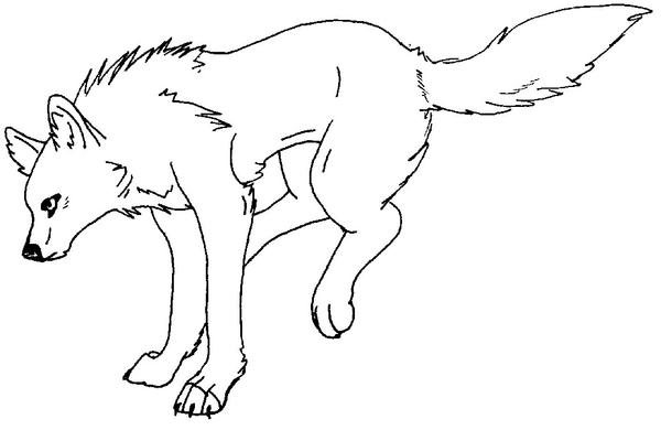 wolf coloring page by wolfkanya on deviantart
